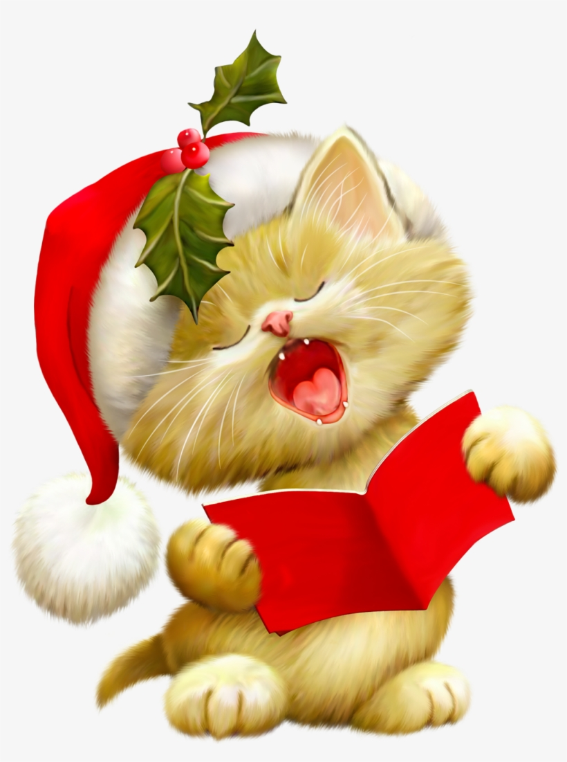 Christmas Cat Clip Art.
