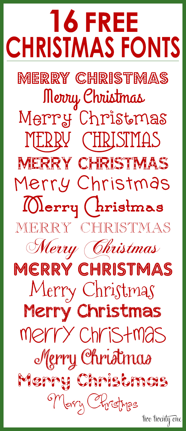 Free Christmas Fonts.