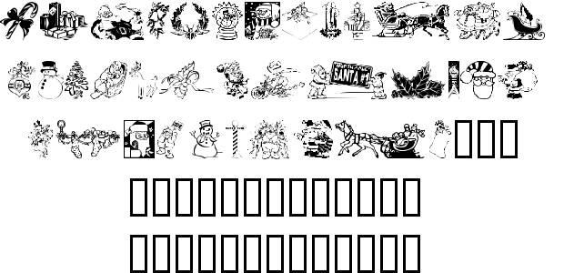 Xmas Clip Art Font.