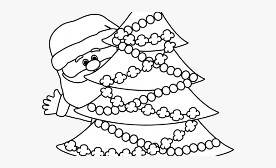 Santa Clipart Black And White.