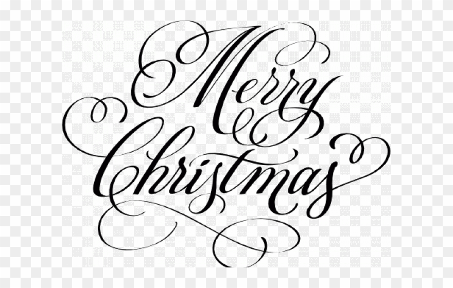Merry Christmas Text Clipart Fancy.