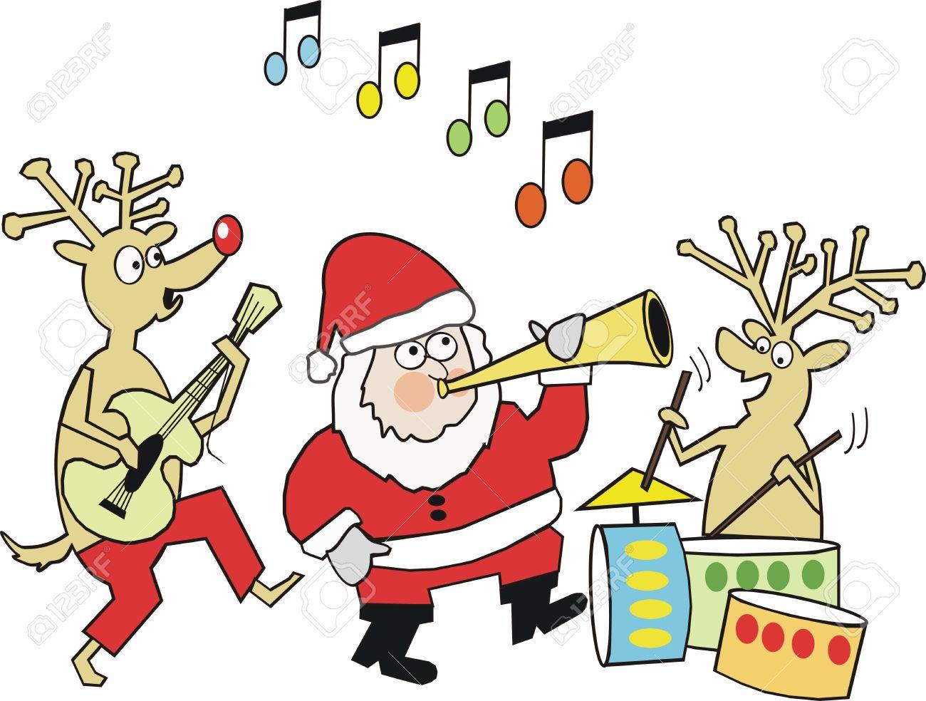 Santa Music Clipart.