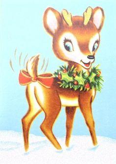 Vintage Rudolph Clipart.