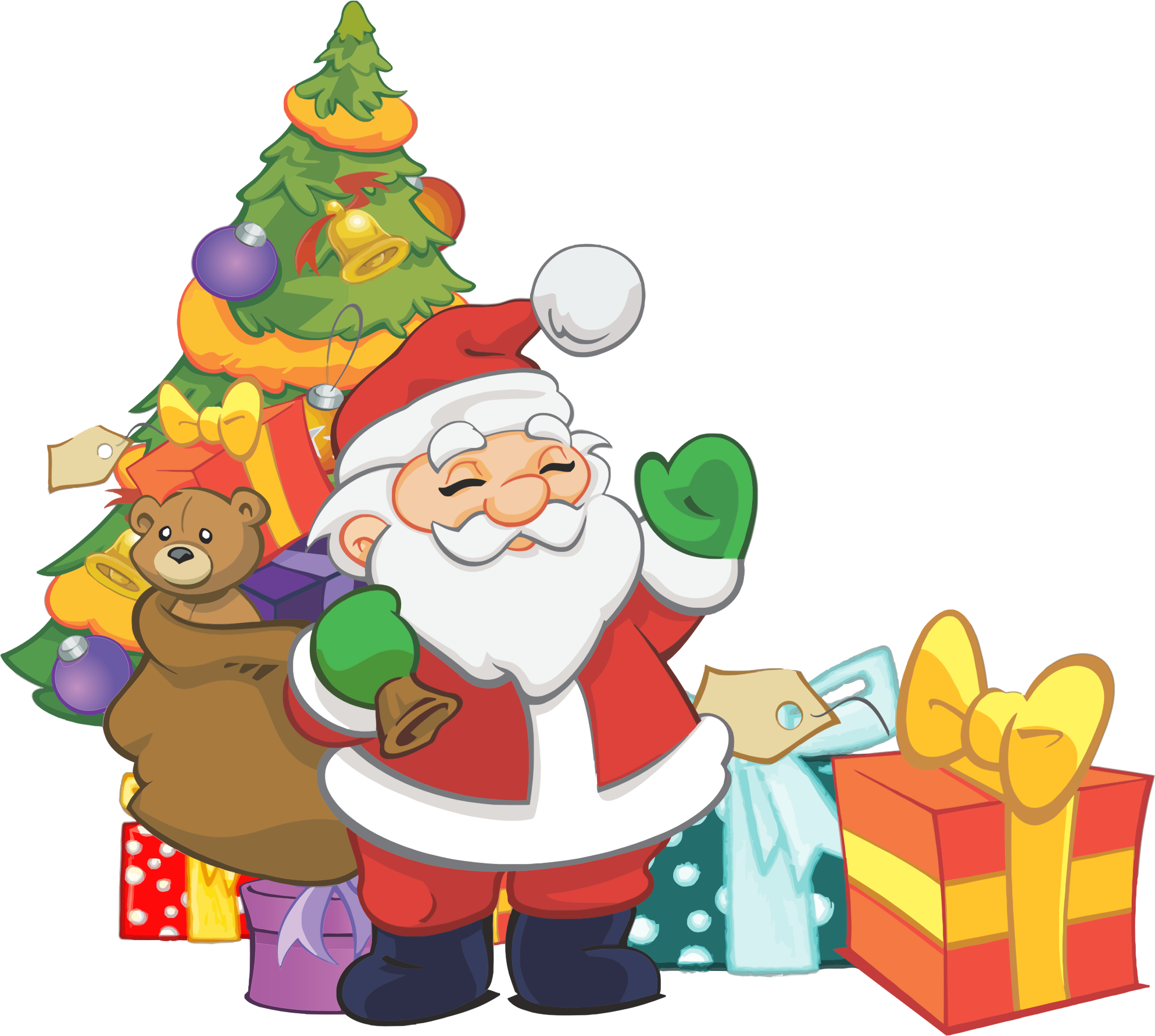Library of santa christmas free library png files.