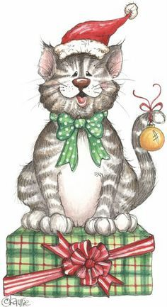 Christmas Cats Clipart Fofos on pinterest digital.