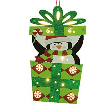 Amazon.com : MatureGirl Wooden Ornaments LED Hanging.