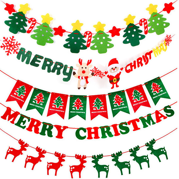 Merry Christmas Party Banner Christmas Banner Flag Garland Xmas Decor 2018  Christmas Party Decor Happy New Year 2019 Party Christmas Gift Box Toys For.