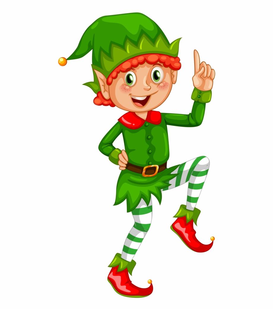 Cute Christmas Elves Clipart.