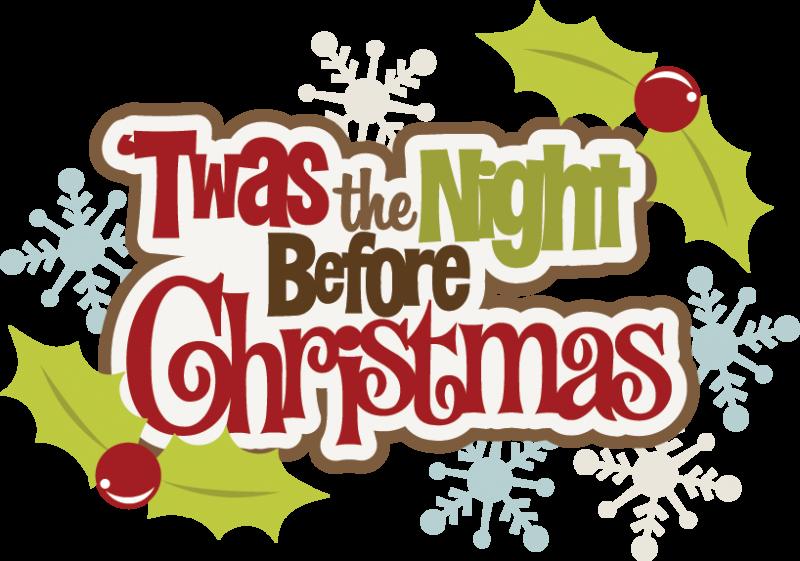 Merry Christmas Eve Clipart.