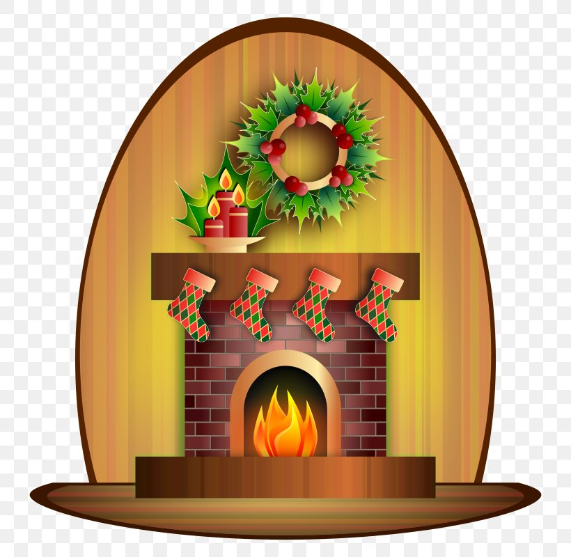 Santa Claus Christmas Fireplace Chimney Clip Art, PNG.