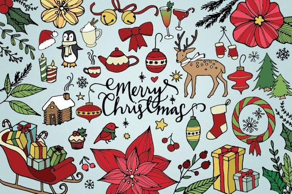 Christmas Clip Art, happy holidays clipart, Xmas.