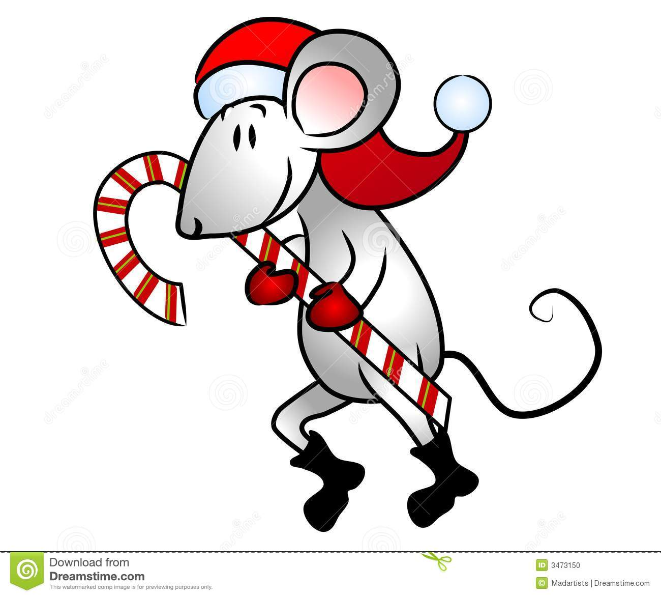 Christmas Mouse Clipart Free.