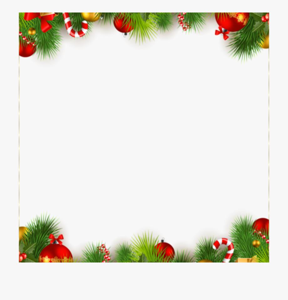 Christmas Ornament Border Clip Art.