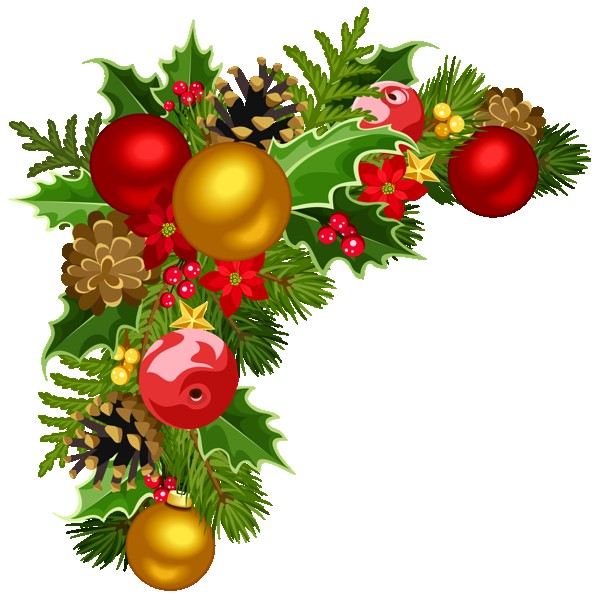 Christmas Ornament Border Png images collection for free.