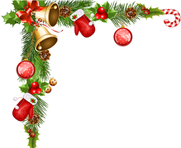 Christmas Ornaments Clipart Picture Frame.
