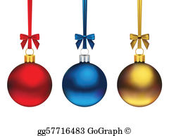 Christmas Ornaments Clip Art.