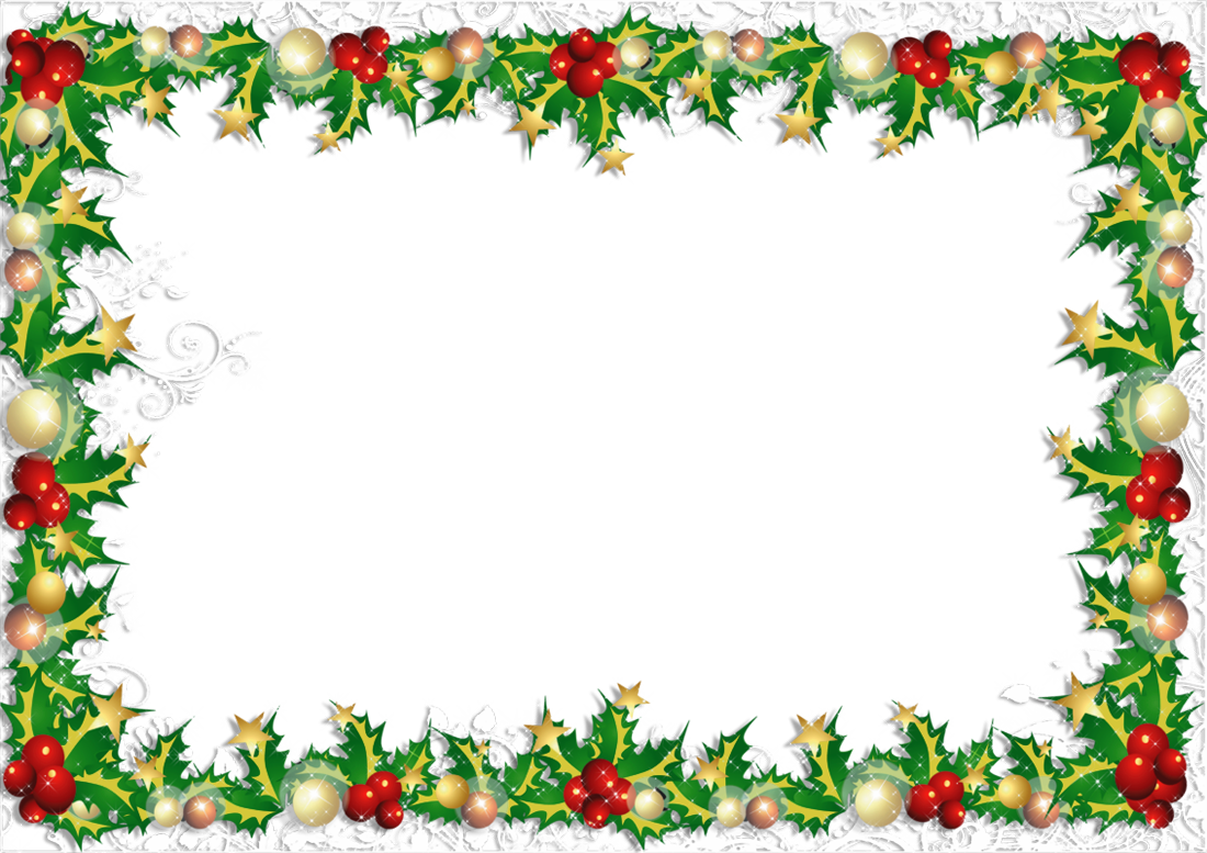 Transparent PNG Christmas Photo Frame.