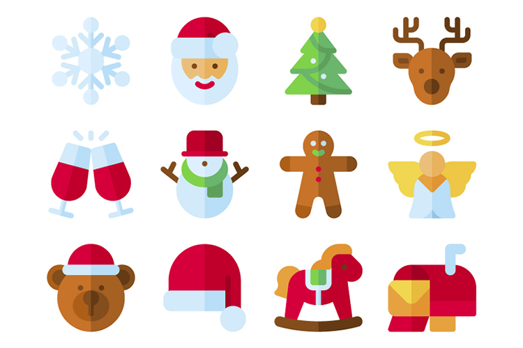 Free Christmas Icon Bundle in SVG & PNG Formats.