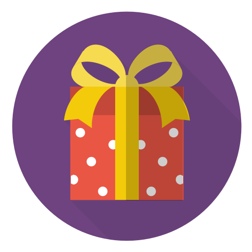 Christmas, gift, holiday, present, red, surprise, xmas icon.
