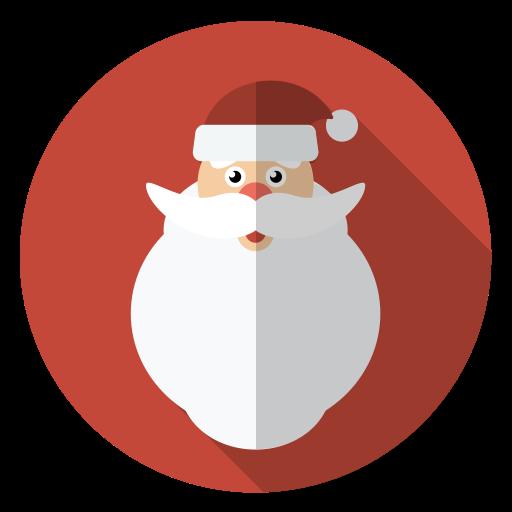 Christmas, face, hairy, holiday, santa, winter, xmas icon.