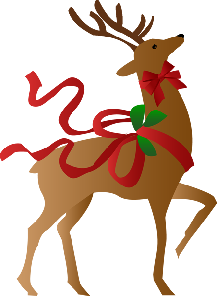537 Christmas Reindeer free clipart.