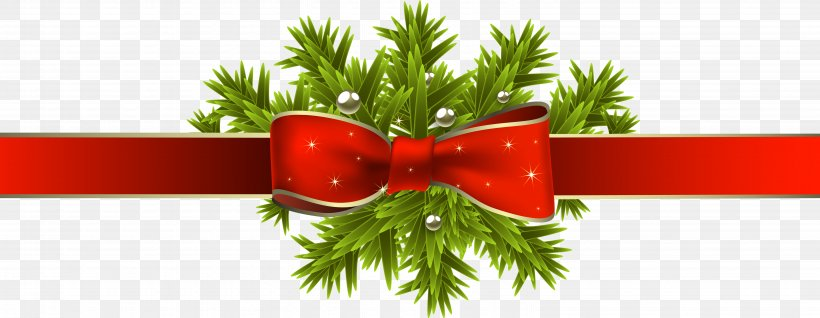 Christmas Tree Ribbon Christmas Decoration Clip Art, PNG.