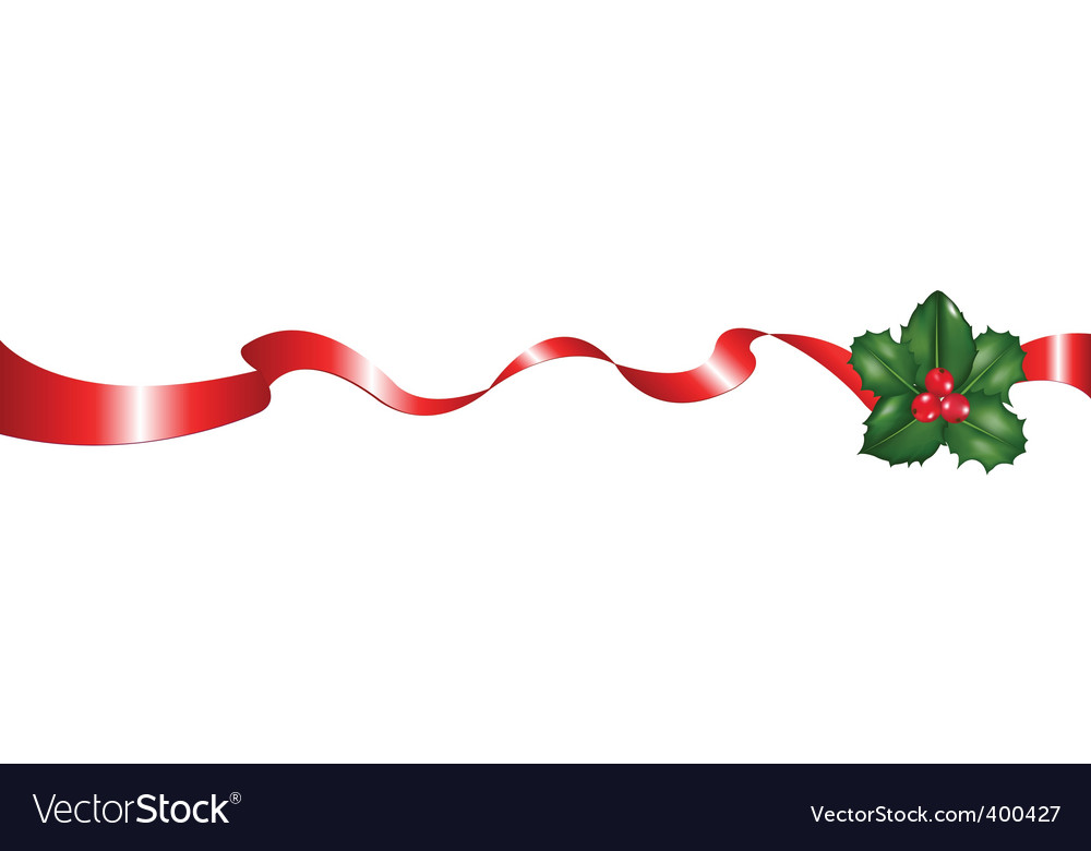 Christmas ribbon.