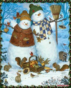 Christmas illustrations, drawings, paintings on Pinterest.