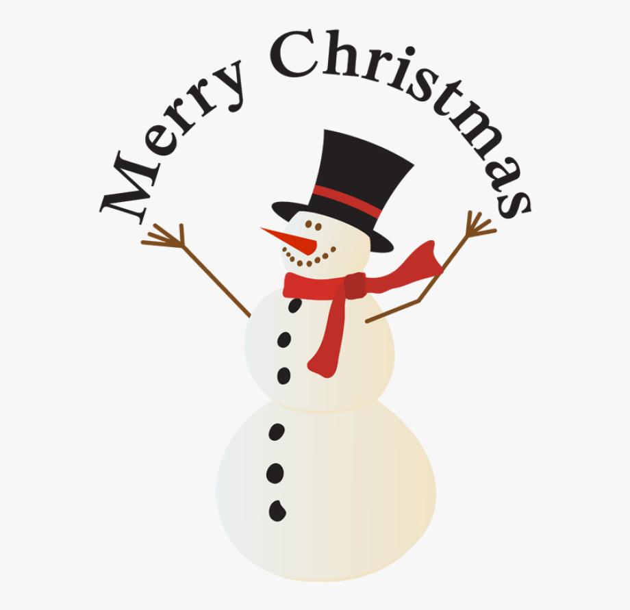 Merry Christmas Snowman Clipart , Transparent Cartoon, Free.