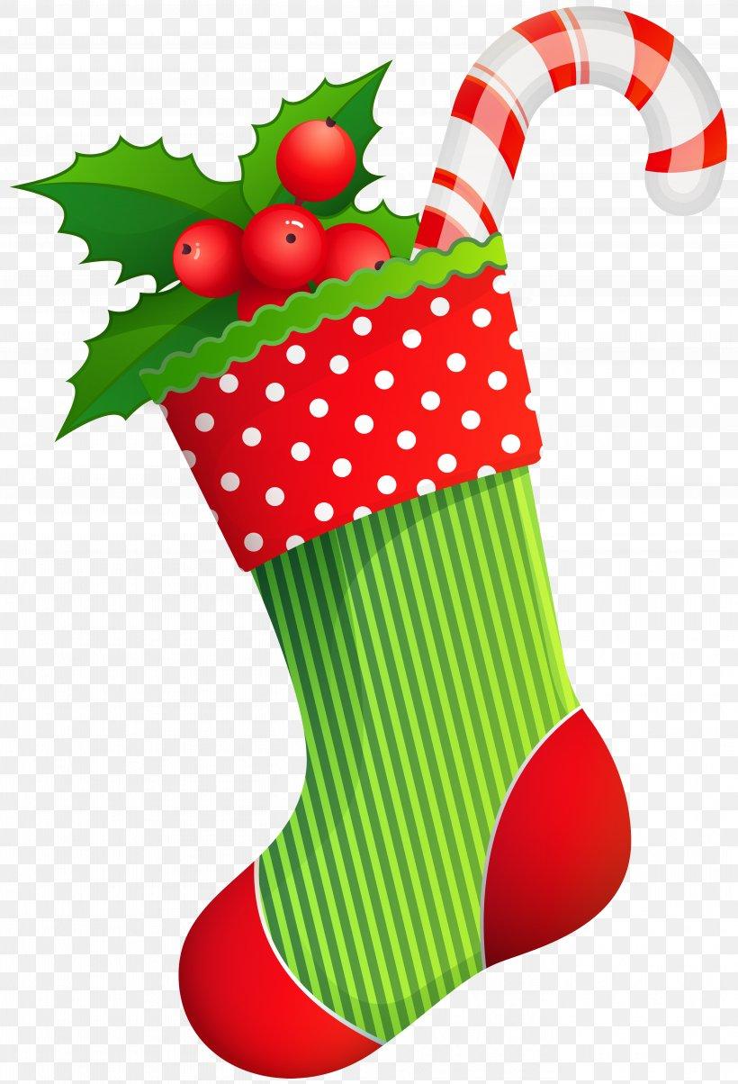 Christmas Stocking Santa Claus Clip Art, PNG, 5444x8000px.