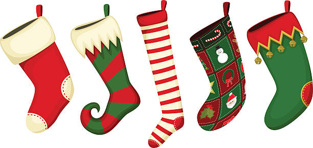 Best Christmas Stocking Illustrations, Royalty.