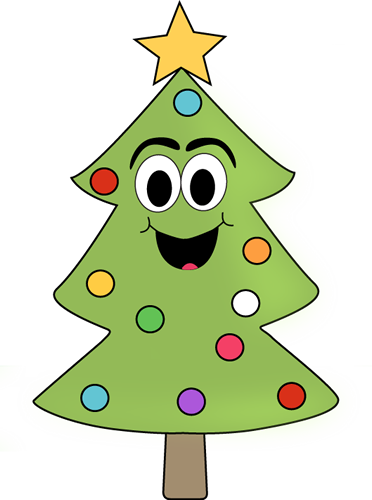 Cartoon Christmas Tree Clip Art.