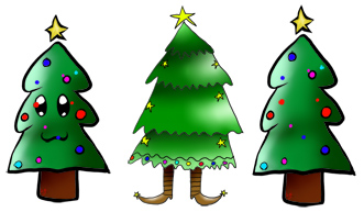 Christmas Cartoon Clipart, Echo's Original Christmas Cartoons Pictures.