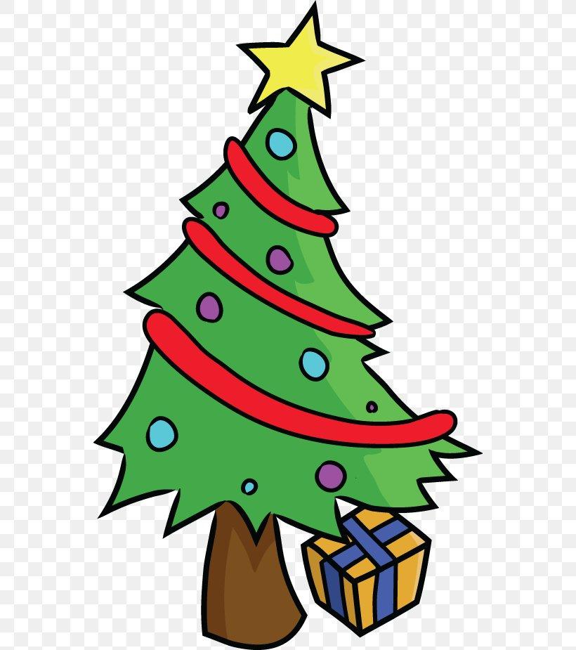 Santa Claus Christmas Tree Cartoon Clip Art, PNG, 555x925px.