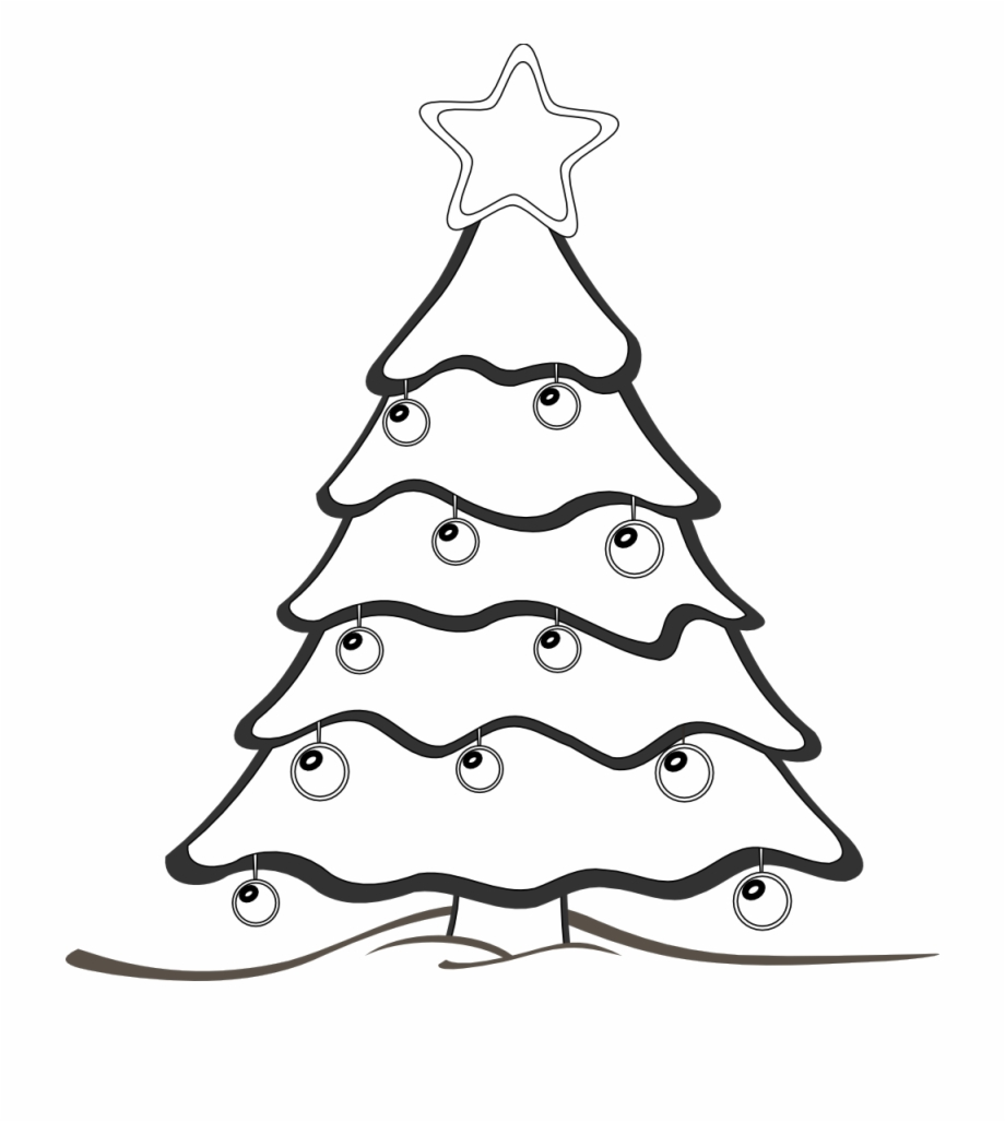 Xmas Tree Clipart Black And White 6 0 Christmas Clip.
