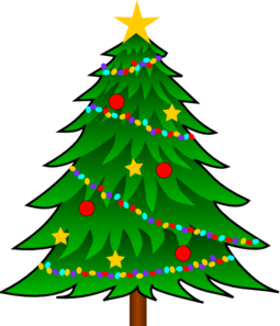 Christmas Tree Clip Art With Lights.