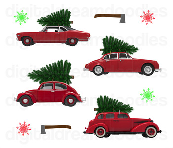 Christmas Car Clip Art.