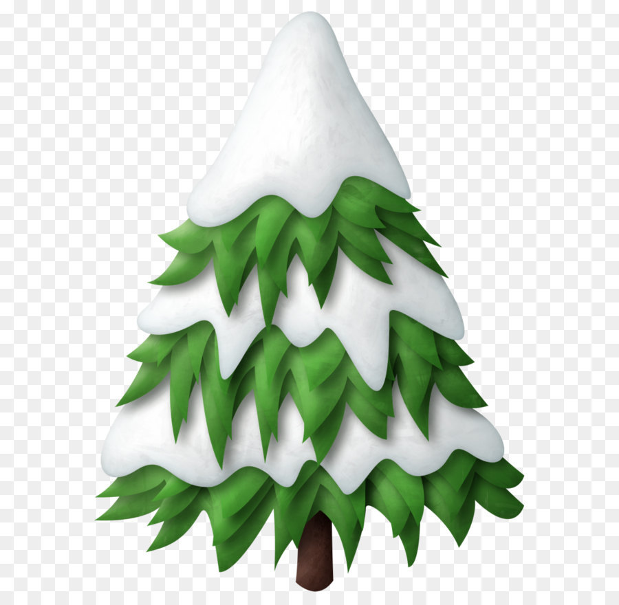 Snow Christmas Tree png download.
