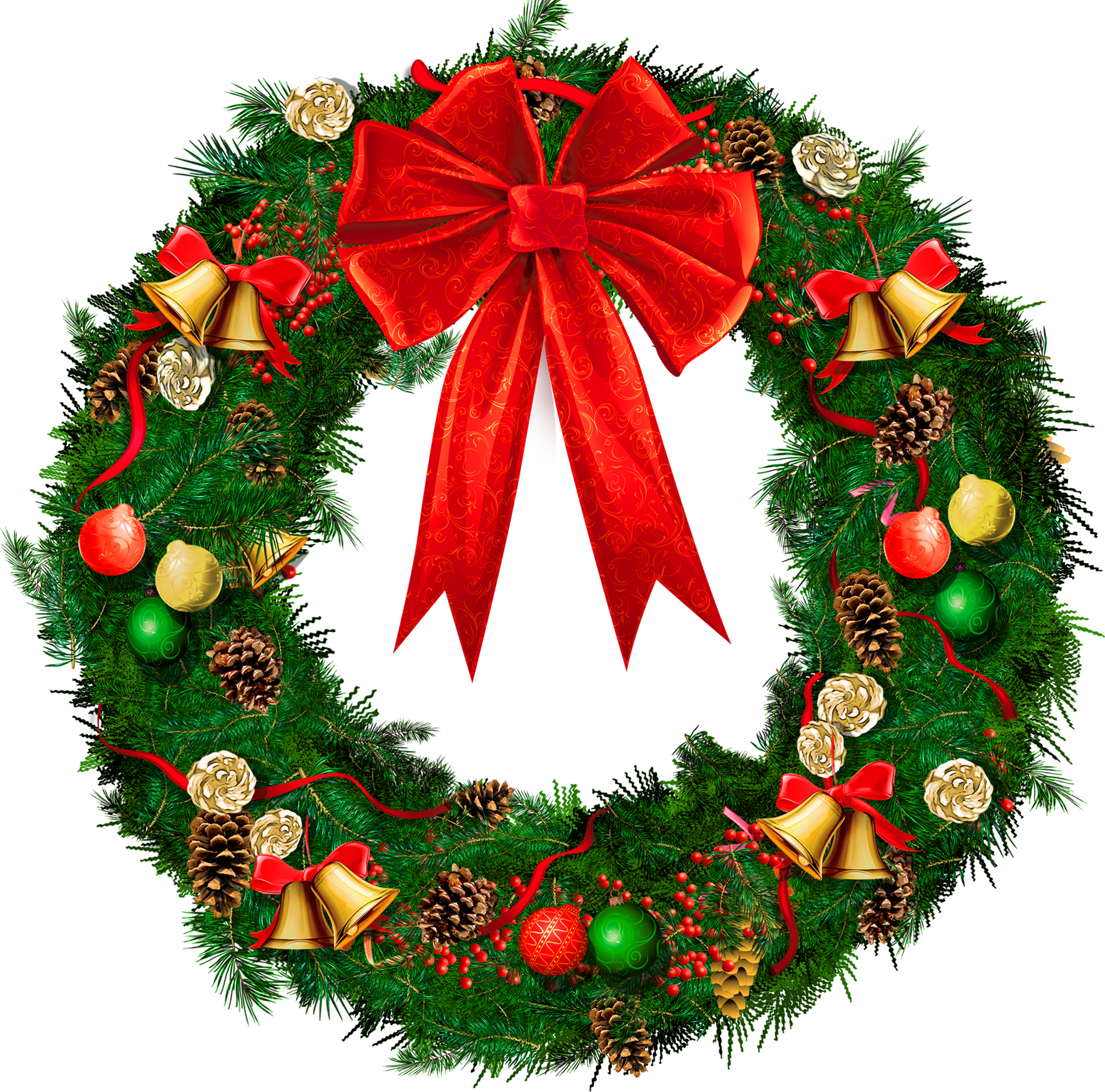 Xmas Wreath Clipart.