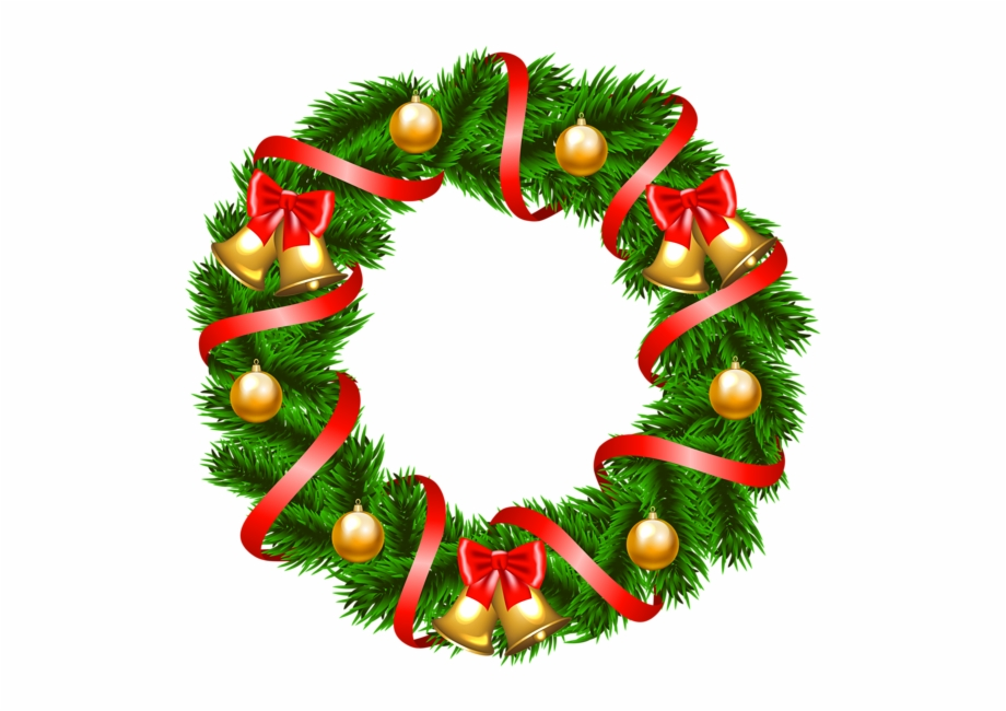 Gallery For Christmas Wreath Clipart Png.