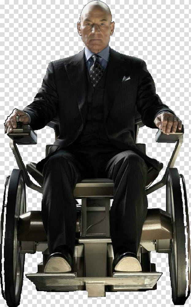 X Men Professor X Charles Xavier transparent background PNG.