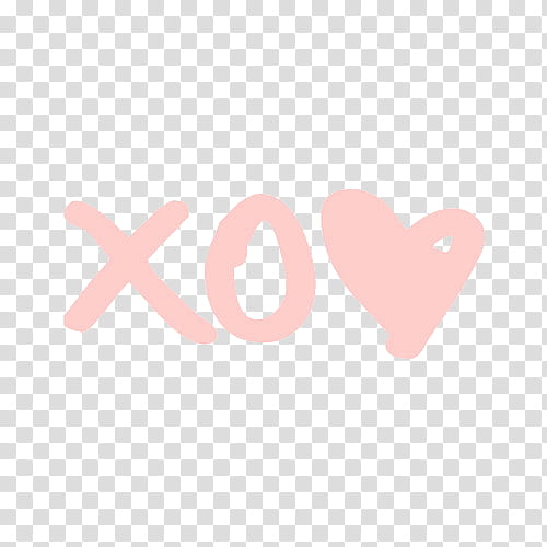 X O heart pink transparent background PNG clipart.
