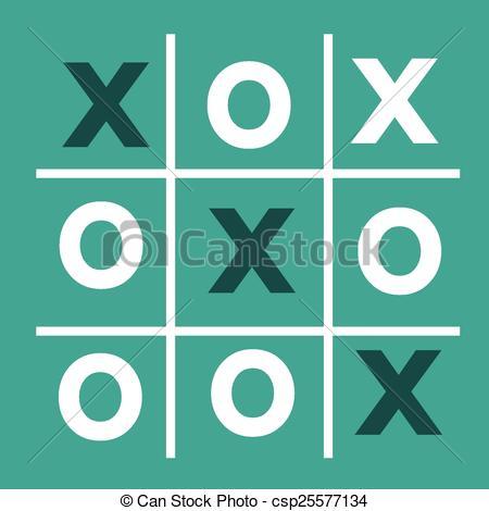 Vector Clipart of tic tac toe XO game , tic, tac, toe, x, game, o.