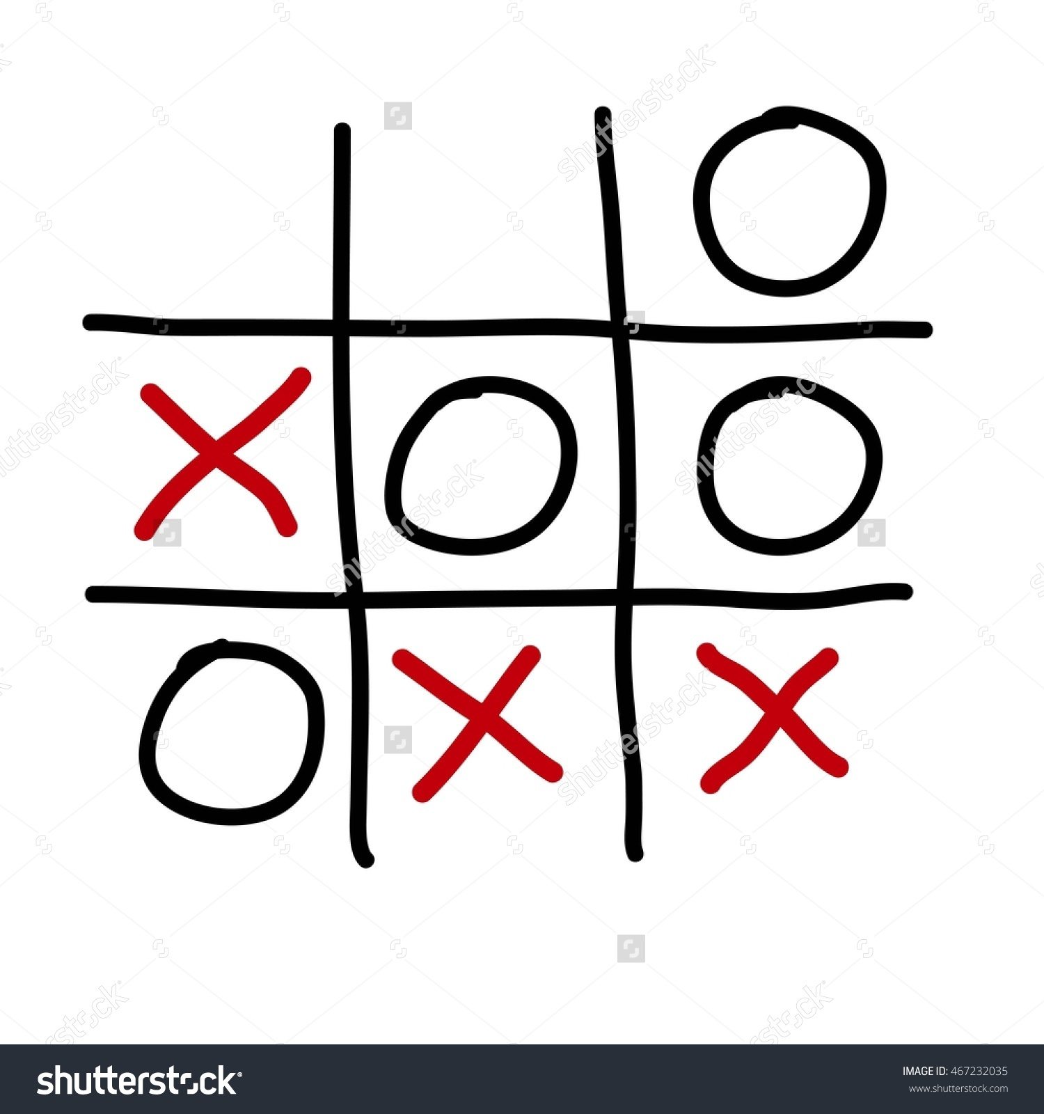 Tic Tac Toe Xo Game On Stock Illustration 467232035.