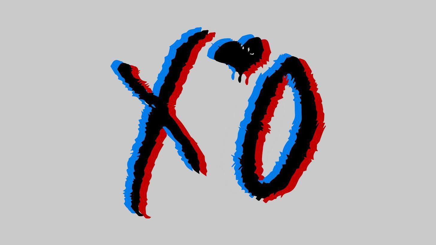 The Weeknd Stereoscopic XO Logo in 2019.