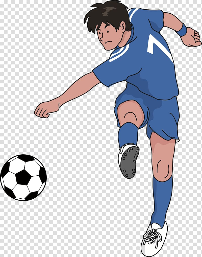 Football Kick Shooting , soccer ball transparent background.