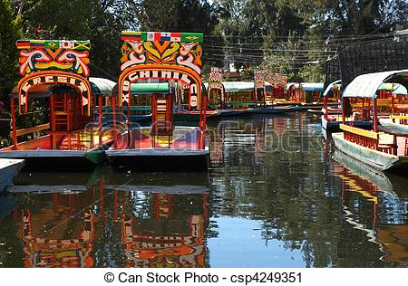 Stock Photography of Boat in Mexico city Xochimilco.