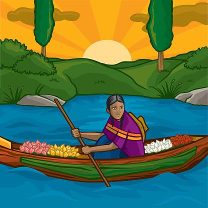 Xochimilco Clip Art, Vector Images & Illustrations.
