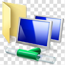 Windows Live For XP, computer icon transparent background.