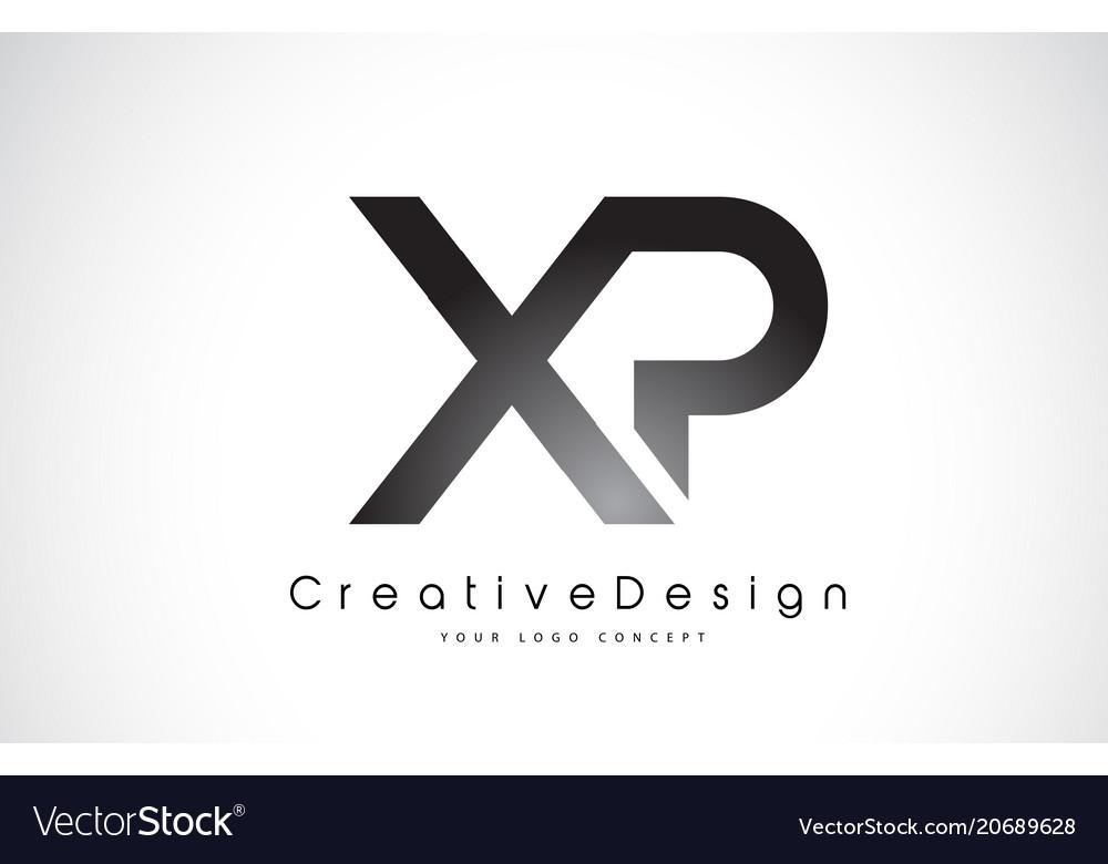 Xp x p letter logo design creative icon modern.